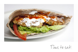 Chickpea Burgers With Tzatziki And Hot Sauce