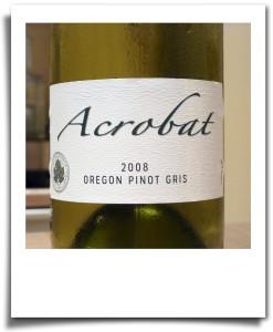 Dry white wine: Acrobat pinot gris