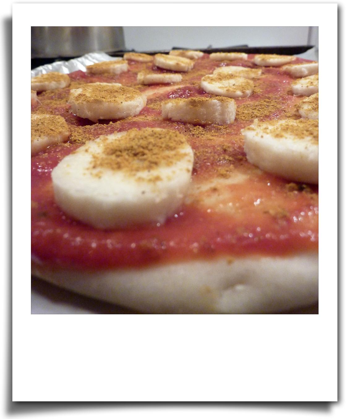 Banana Curry Pizza