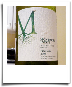 Dry white wine: M pinot gris