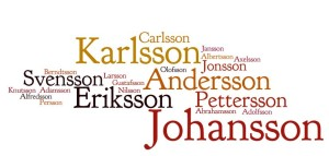 The most common Swedish surnames
