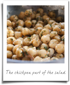 Chickpea Salad With Halloumi Cheese