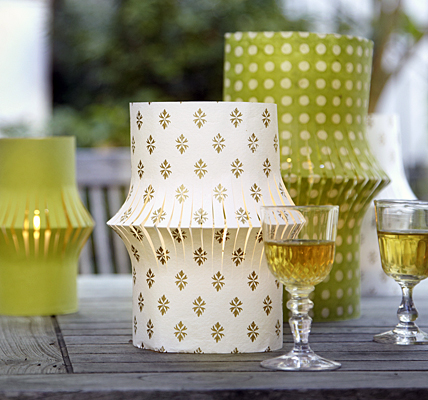 Cut paper candle holder