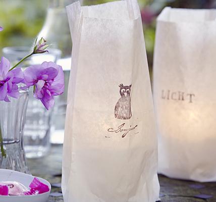 Paper bag candle holder