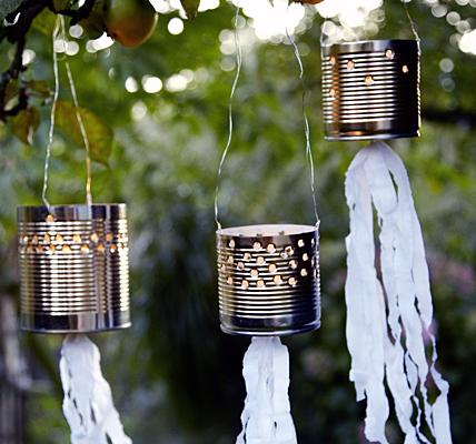 Tin can outdoor lighting