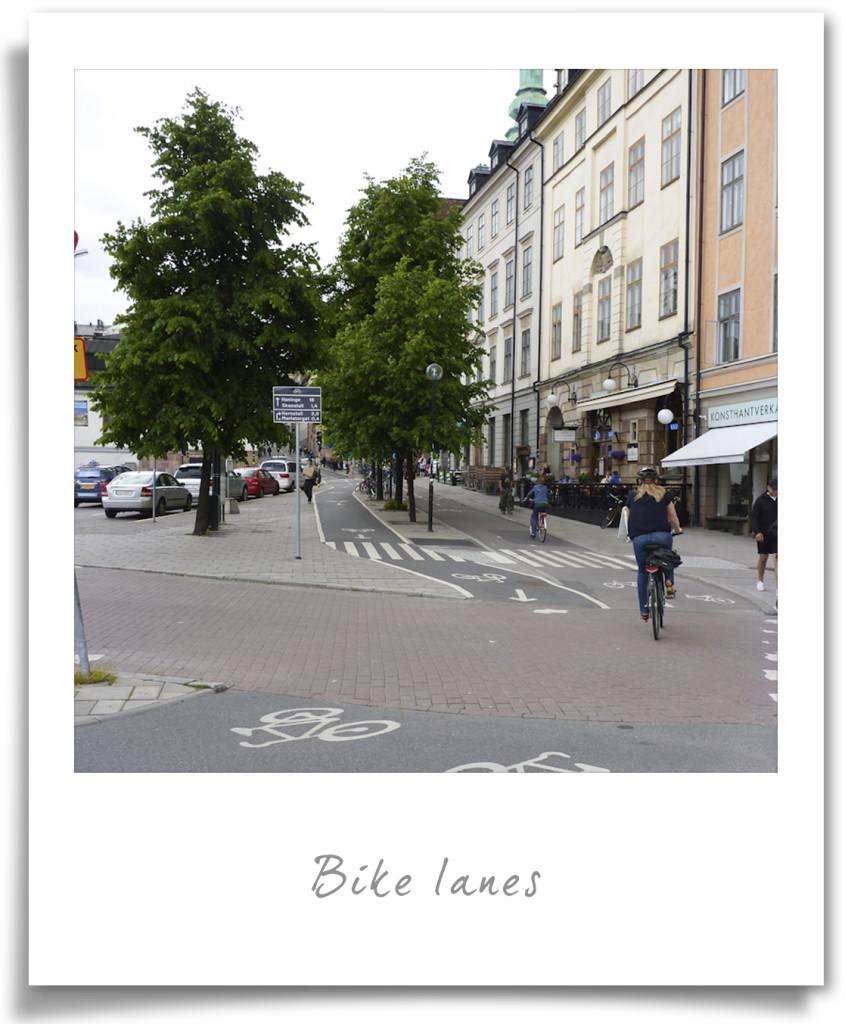 Stockholm - bike lanes