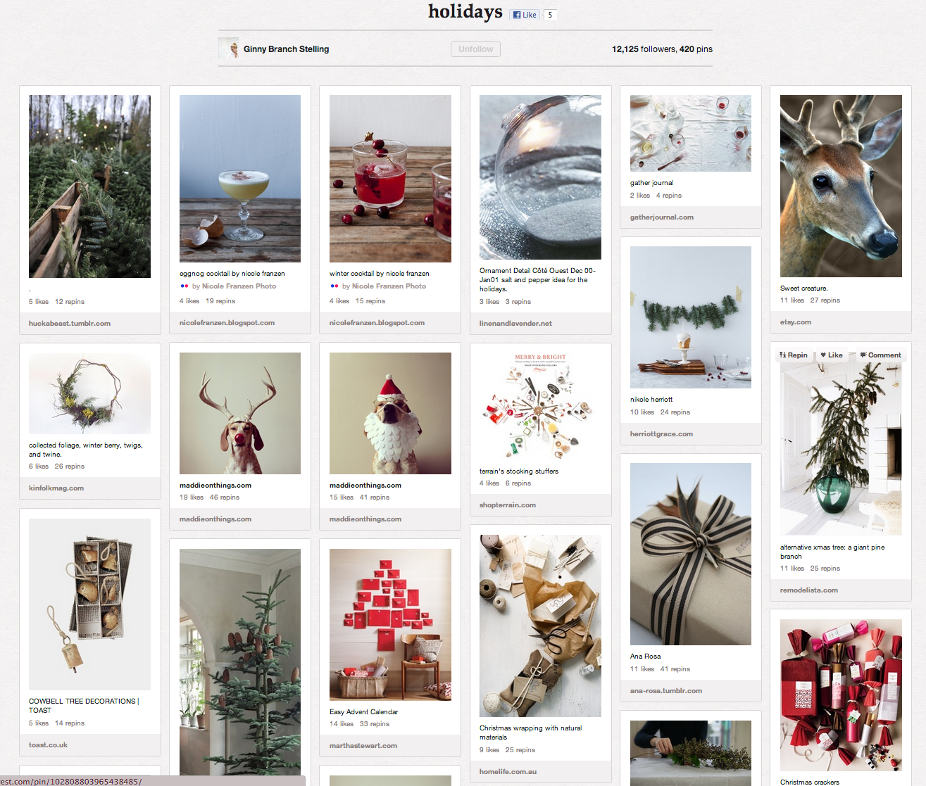 Pinterest board - Holidays