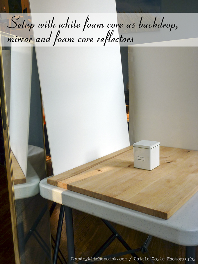 Mirror-and-foam-core-setup