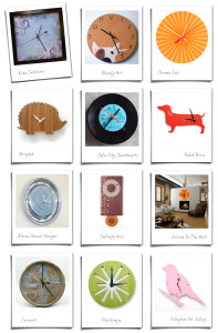 Wall Clocks – 12 Etsy Finds