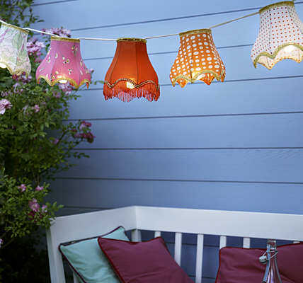 Lamp shade outdoor lighting