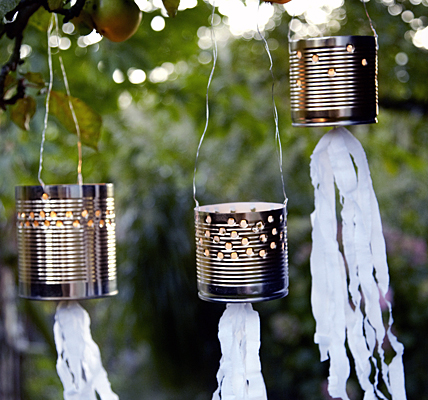 Tin can outdoor lighting