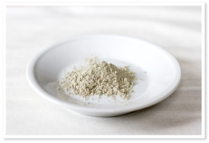 Powdered clay for clay mask