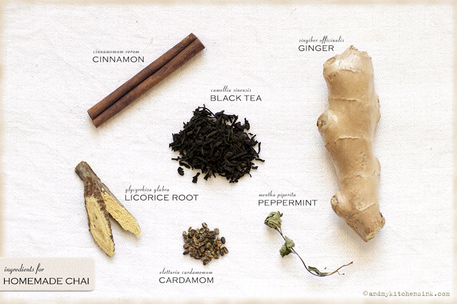 Chai tea ingredients
