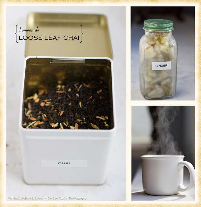 Homemade loose leaf chai tea