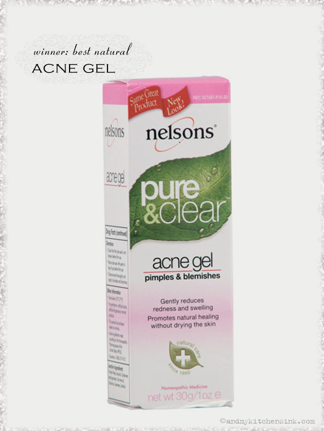 Natural skin care products - acne gel
