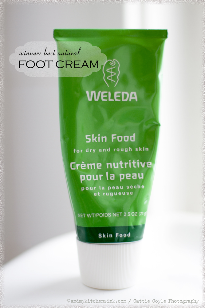 Natural skin care products - foot cream