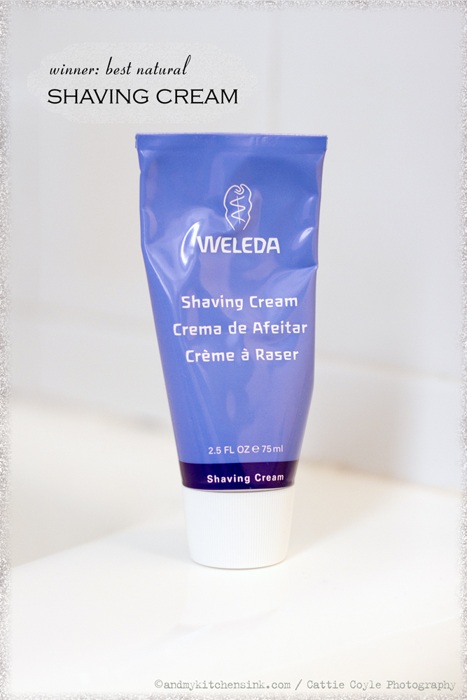 Natural skin care products - shaving cream