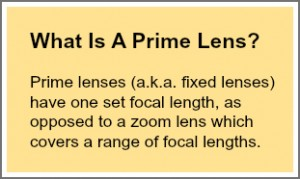 What is a prime lens